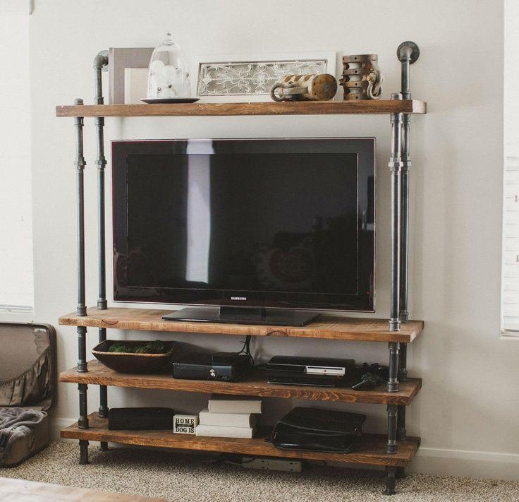 Best 25+ Reclaimed Wood Tv Stand Ideas On Pinterest | Rustic Wood In Latest Open Shelf Tv Stands (Image 3 of 20)