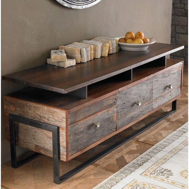 Best 25+ Reclaimed Wood Tv Stand Ideas On Pinterest | Rustic Wood in Most Current Reclaimed Wood and Metal Tv Stands