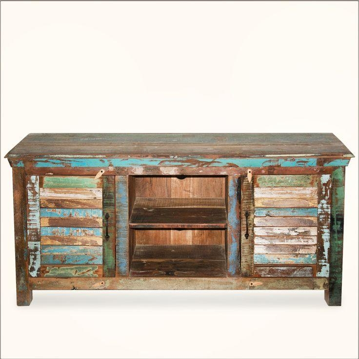 Best 25+ Reclaimed Wood Tv Stand Ideas On Pinterest | Rustic Wood Pertaining To 2017 Recycled Wood Tv Stands (Image 4 of 20)