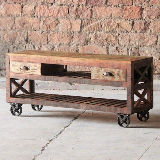 Best 25+ Reclaimed Wood Tv Stand Ideas On Pinterest | Rustic Wood with regard to Most Recently Released Recycled Wood Tv Stands