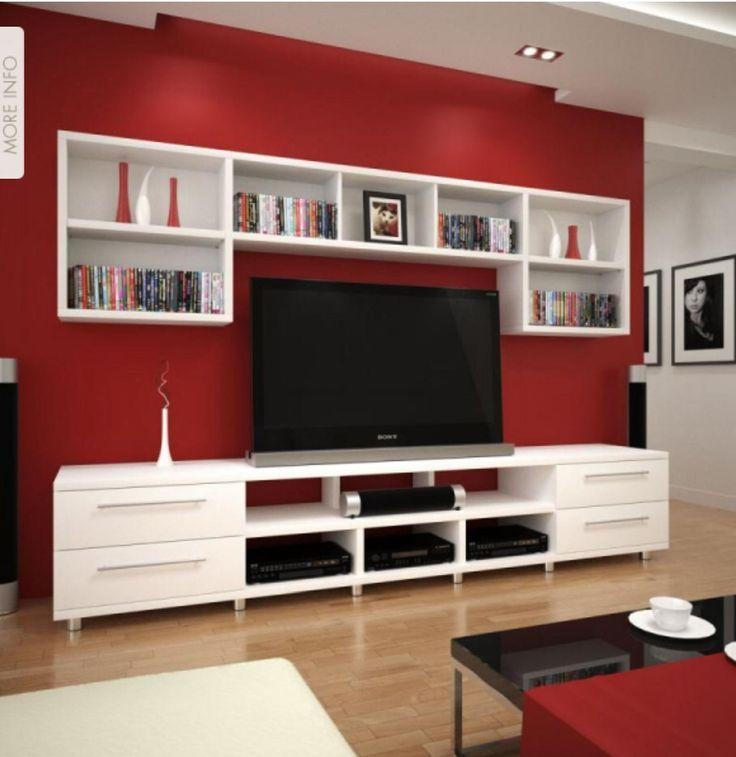 Best 25+ Red Tv Stand Ideas On Pinterest | Modern Tv Stands, Wall Inside Current Red Tv Units (Image 3 of 20)