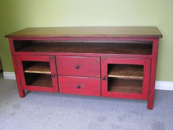 Best 25+ Red Tv Stand Ideas On Pinterest | Refinishing Wood Tables Pertaining To Most Up To Date Red Tv Cabinets (View 4 of 20)