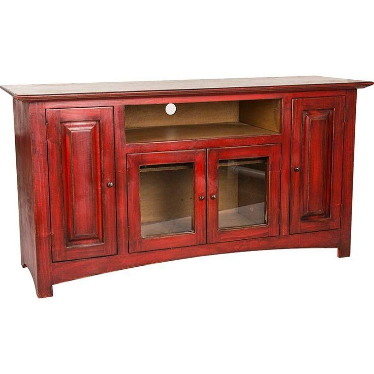Best 25+ Red Tv Stand Ideas On Pinterest | Refinishing Wood Tables Regarding 2017 Red Tv Cabinets (Image 6 of 20)