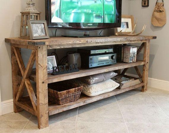Best 25+ Rustic Tv Console Ideas On Pinterest | Rustic Tv Stands Throughout  Best And