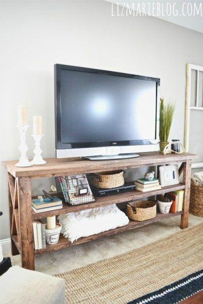Best 25+ Rustic Tv Stands Ideas On Pinterest | Small Tv Stand In Recent Rustic Tv Cabinets (Image 4 of 20)