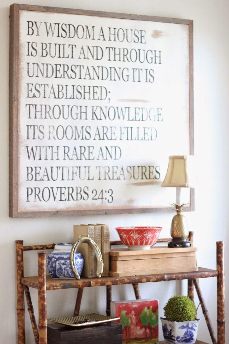 Best 25+ Scripture Wall Art Ideas On Pinterest | Christian Art Inside Framed Wall Art Sayings (Image 5 of 20)