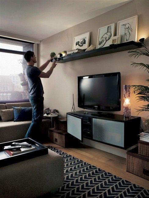 Best 25+ Shelf Above Tv Ideas On Pinterest | Above Tv Decor Intended For Most Popular Over Tv Shelves (View 2 of 20)