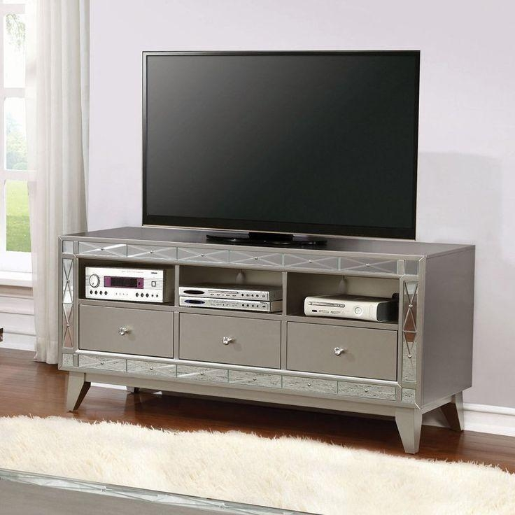 Ordinaire Best 25+ Silver Tv Stand Ideas On Pinterest | Acrylic Side Table With 2018  Silver