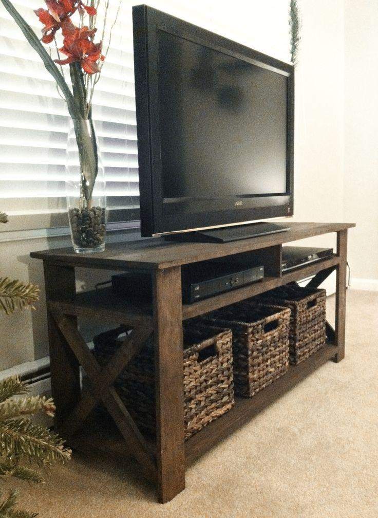 Best 25+ Simple Tv Stand Ideas On Pinterest | Small Entertainment Throughout Most Popular Wooden Tv Stand With Wheels (Image 7 of 20)