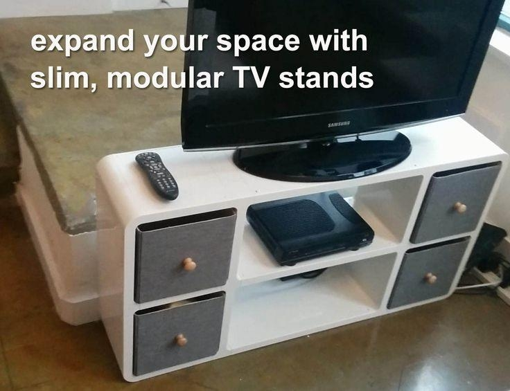 Best 25+ Slim Tv Stand Ideas On Pinterest | Wall Mounted Candle Regarding 2017 Slim Line Tv Stands (View 6 of 20)