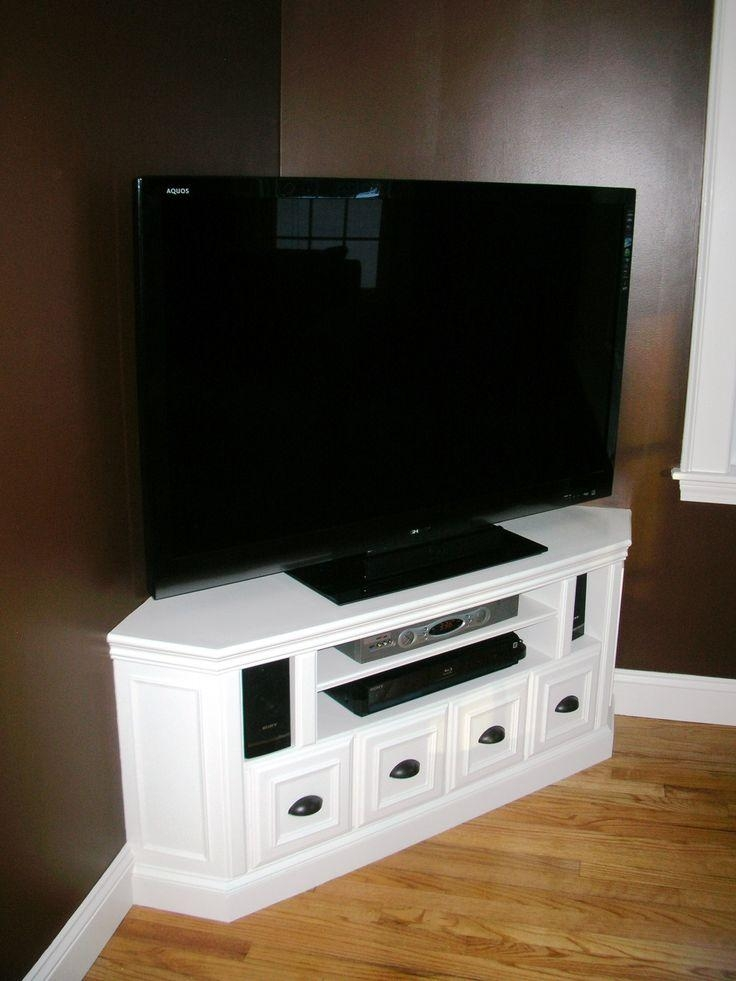 Best 25+ Small Corner Tv Stand Ideas On Pinterest | Bedroom Tv Regarding Most Recent Black Gloss Corner Tv Stand (Image 8 of 20)