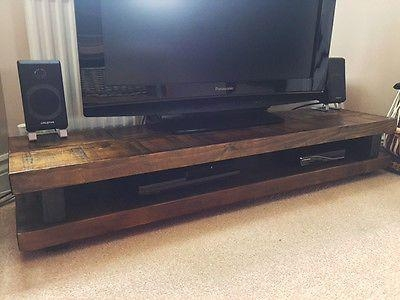 Best 25+ Solid Wood Tv Stand Ideas On Pinterest | Reclaimed Wood Inside 2017 Chunky Tv Cabinets (View 7 of 20)