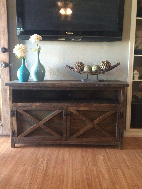 Best 25+ Solid Wood Tv Stand Ideas On Pinterest | Reclaimed Wood Intended For Most Popular Rustic Looking Tv Stands (Image 13 of 20)