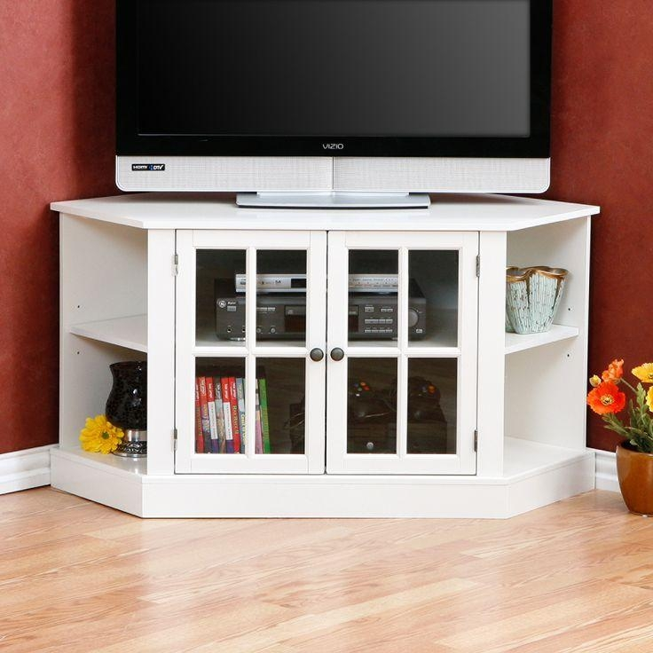 Best 25+ Tall Corner Tv Stand Ideas On Pinterest | Wooden Tv Intended For Best And Newest White Small Corner Tv Stands (Image 11 of 20)