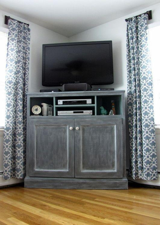 Best 25+ Tall Tv Stands Ideas On Pinterest | Tall Entertainment Regarding Most Current Grey Corner Tv Stands (Image 6 of 20)