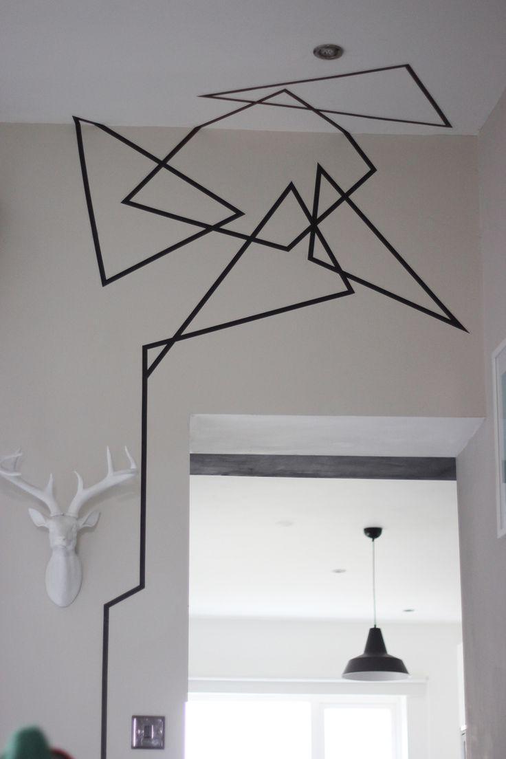 Best 25+ Tape Wall Art Ideas On Pinterest   Masking Tape Wall With Regard To Duct Tape Wall Art (Image 6 of 20)