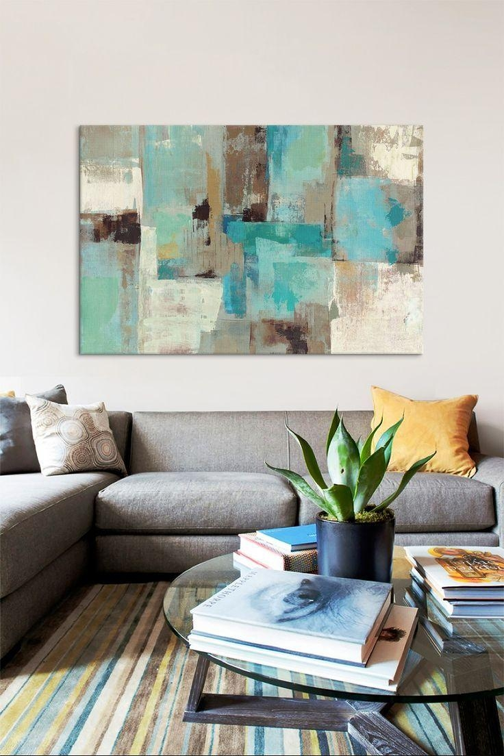 Best 25+ Teal Canvas Art Ideas On Pinterest | Flower Painting Pertaining To Wall Art Teal Colour (Image 9 of 20)
