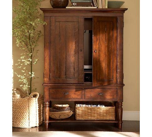 Best 25+ Tv Armoire Ideas On Pinterest | Armoire Redo, Linen Throughout Latest Tv Hutch Cabinets (View 4 of 20)