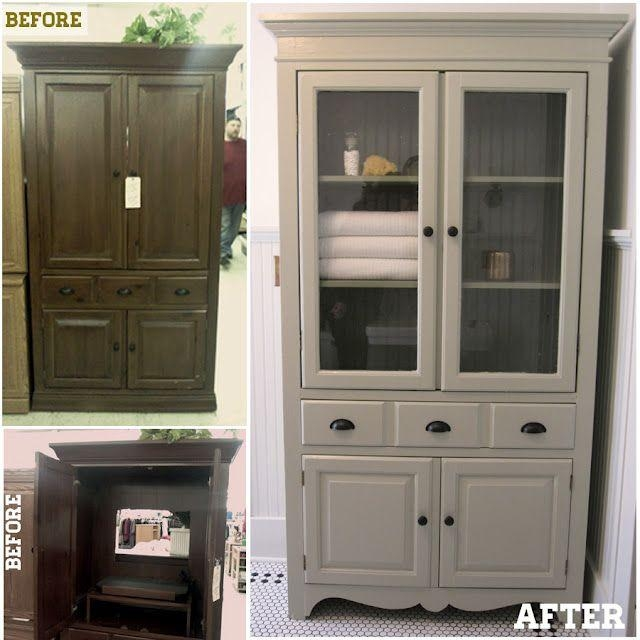 Best 25+ Tv Cabinet Redo Ideas On Pinterest | Tv Stand Furniture With Regard To Most Recent Tv Hutch Cabinets (Image 9 of 20)
