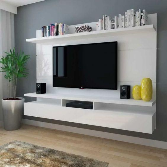 Best 25+ Tv Mount With Shelf Ideas On Pinterest | Tv On Wall Ideas For Most Recent Wall Mounted Tv Stand With Shelves (View 6 of 20)