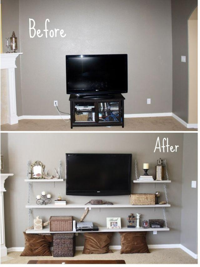 Best 25+ Tv Shelf Ideas On Pinterest | Floating Tv Stand, Tv Wall Intended For Most Recent Shelves For Tvs On The Wall (Image 5 of 20)