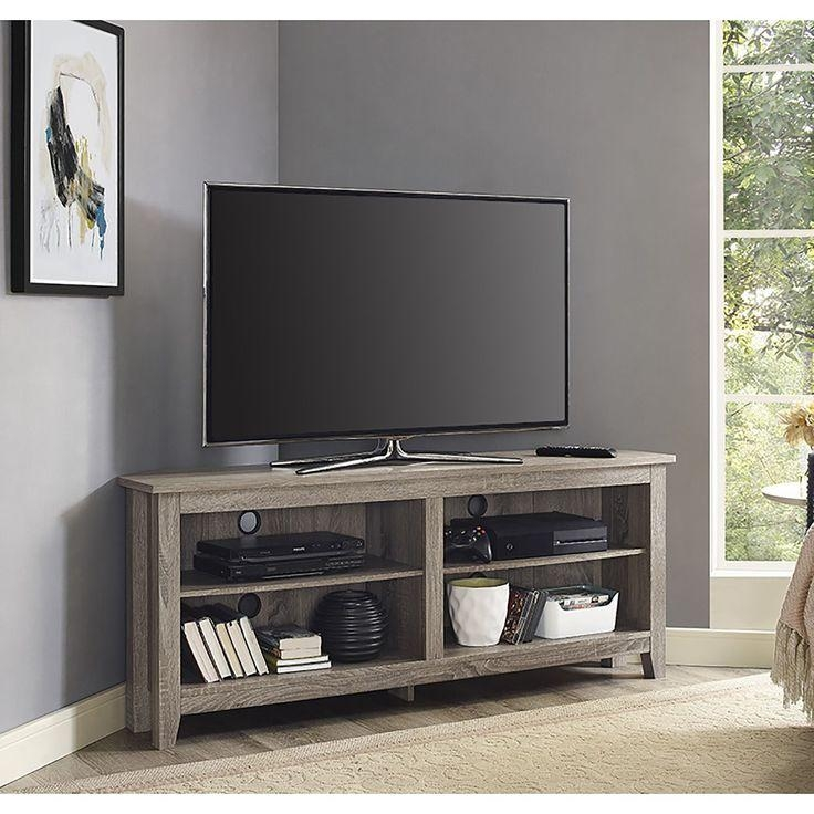 Best 25+ Tv Stand Corner Ideas On Pinterest | Corner Tv, Wood For 2017 Black Gloss Corner Tv Stand (Image 9 of 20)