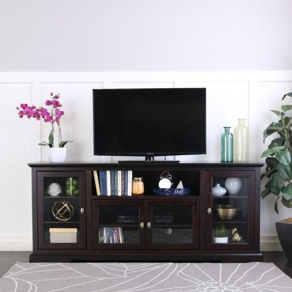 Best 25+ Tv Stand Decor Ideas On Pinterest | Tv Decor, Apartment Within Most Popular Wooden Tv Stands For 50 Inch Tv (Image 8 of 20)