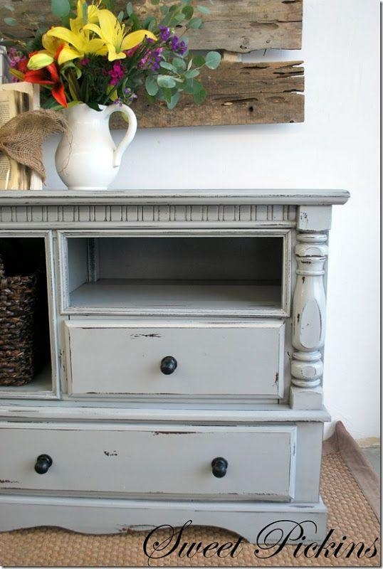 Best 25+ Tv Stand Makeover Ideas On Pinterest | Diy Furniture Redo Intended For Best And Newest Painted Tv Stands (Image 6 of 20)