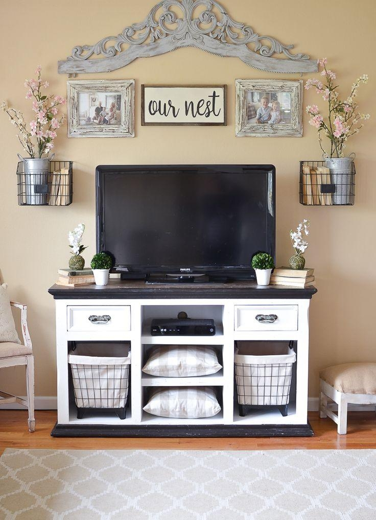 Merveilleux Best 25+ Tv Stand Makeover Ideas On Pinterest | Refurbished Intended For  Newest Rustic Looking