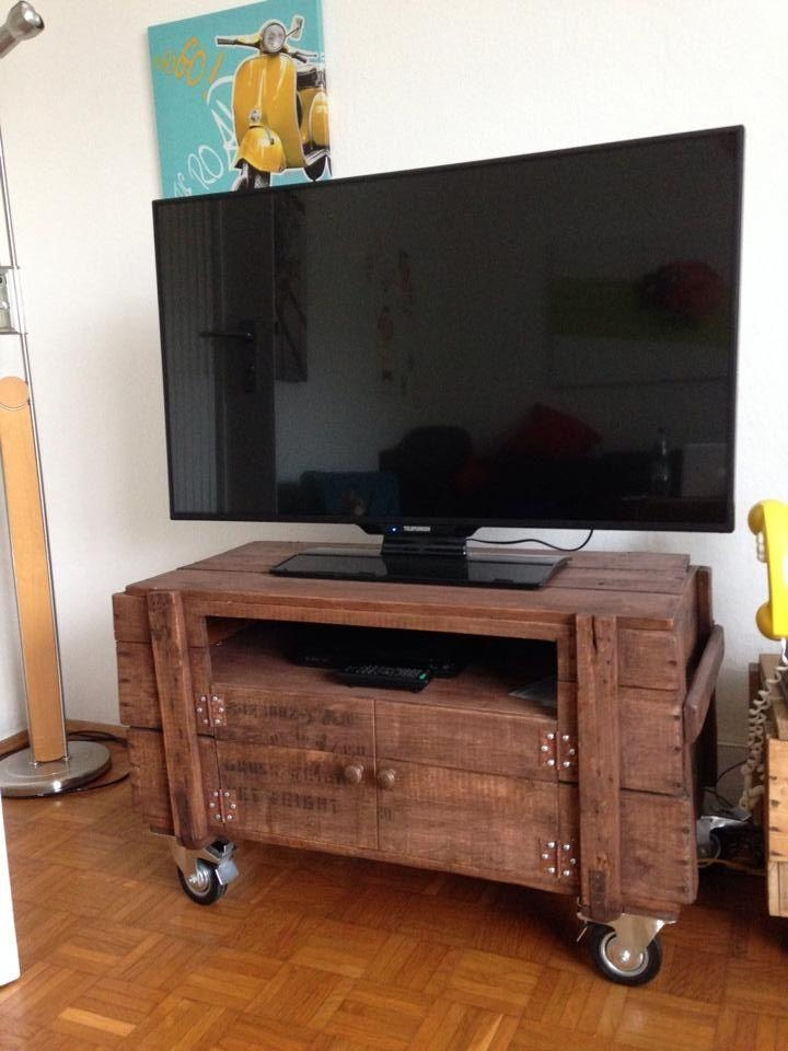 Best 25+ Tv Stand On Wheels Ideas On Pinterest | Tv Stand With With Most Recently Released Rustic Tv Stands For Sale (Image 12 of 20)