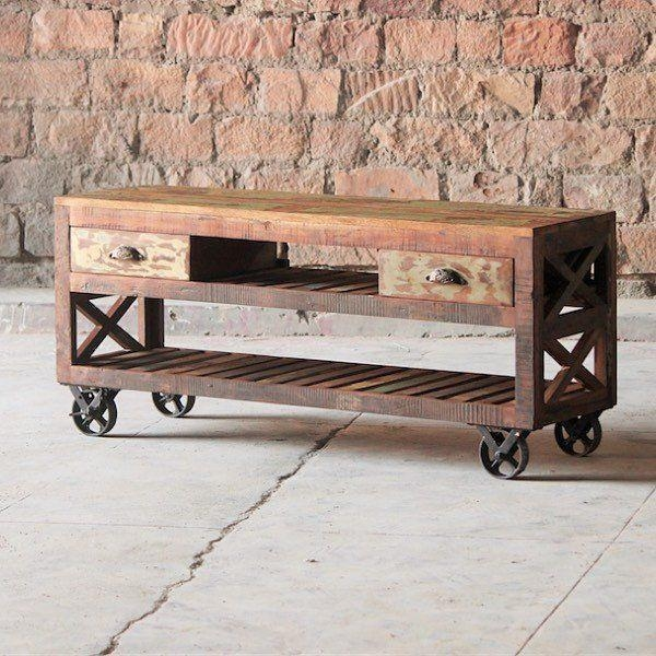 Featured Image of Wooden Tv Stand With Wheels