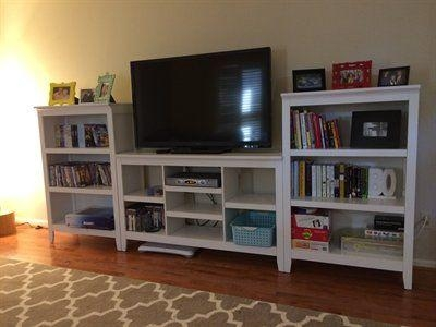 Best 25+ Tv Stand With Storage Ideas On Pinterest | Diy Media In 2018 Tv Stands With Bookcases (View 11 of 20)