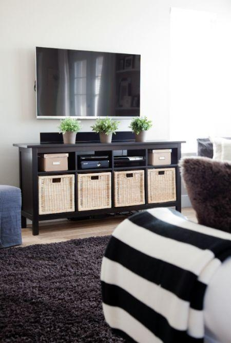 Best 25+ Tv Stand With Storage Ideas On Pinterest | Diy Media Throughout Most Popular Tv Stands With Baskets (Image 8 of 20)