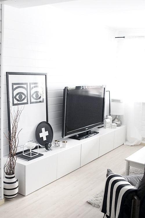 Best 25+ Tv Storage Ideas On Pinterest | Stone Fireplace Makeover Pertaining To Most Recently Released Large White Tv Stands (Image 8 of 20)