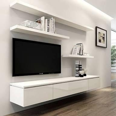 Best 25+ Tv Wall Shelves Ideas On Pinterest   Floating Tv Stand With Regard To Current Wall Mounted Tv Stand With Shelves (Image 4 of 20)