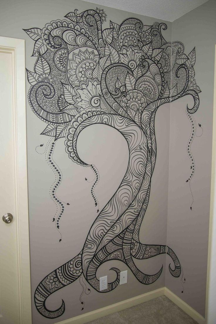 Best 25+ Wall Drawing Ideas On Pinterest | Painted Wall Art, Vine Pertaining To Sharpie Wall Art (Image 5 of 20)