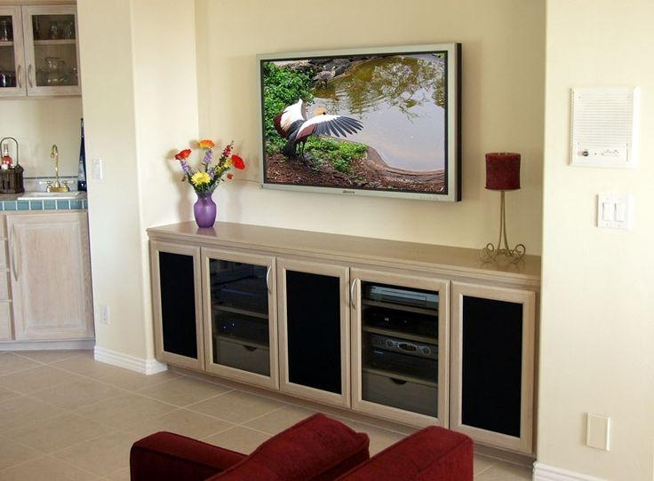 Best 25+ Wall Mount Tv Stand Ideas On Pinterest | Tv Mount Stand Pertaining To Latest Wall Mounted Tv Stands For Flat Screens (Image 4 of 20)