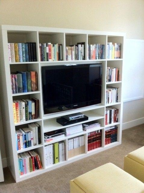 Best 25+ Wall Mount Tv Stand Ideas On Pinterest | Tv Mount Stand Within Most Popular Tv Stands Bookshelf Combo (Image 2 of 20)
