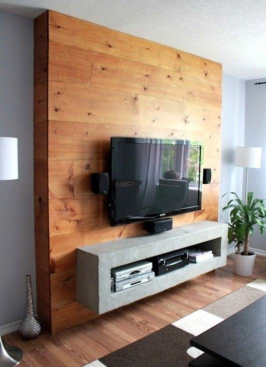 Best 25+ Wall Mount Tv Stand Ideas On Pinterest | Wall Mounted Tv Intended For Most Up To Date Off Wall Tv Stands (Image 6 of 20)