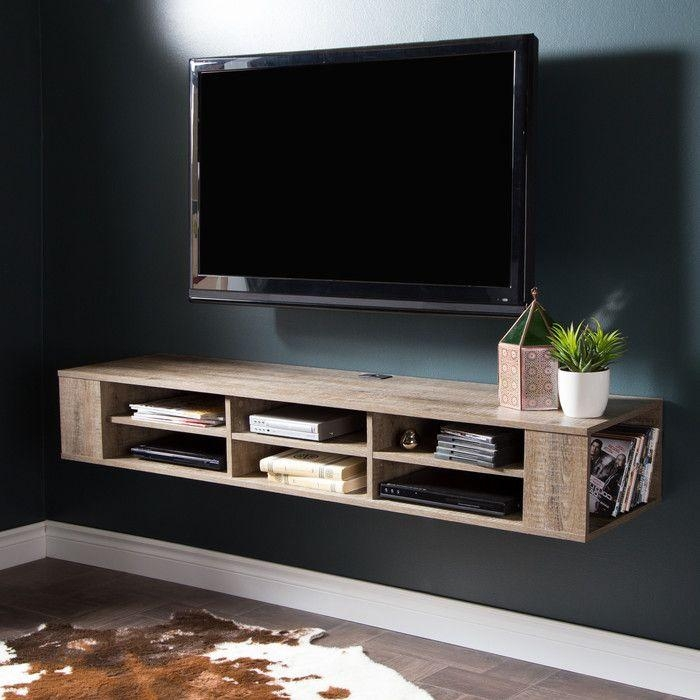 Best 25+ Wall Mounted Tv Ideas On Pinterest   Mounted Tv, Mounted Intended For Best And Newest Wall Mounted Tv Stand With Shelves (Image 8 of 20)