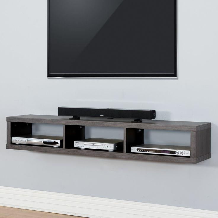 Best 25+ Wall Mounted Tv Ideas On Pinterest | Mounted Tv, Mounted Regarding Most Up To Date Shelves For Tvs On The Wall (Image 11 of 20)