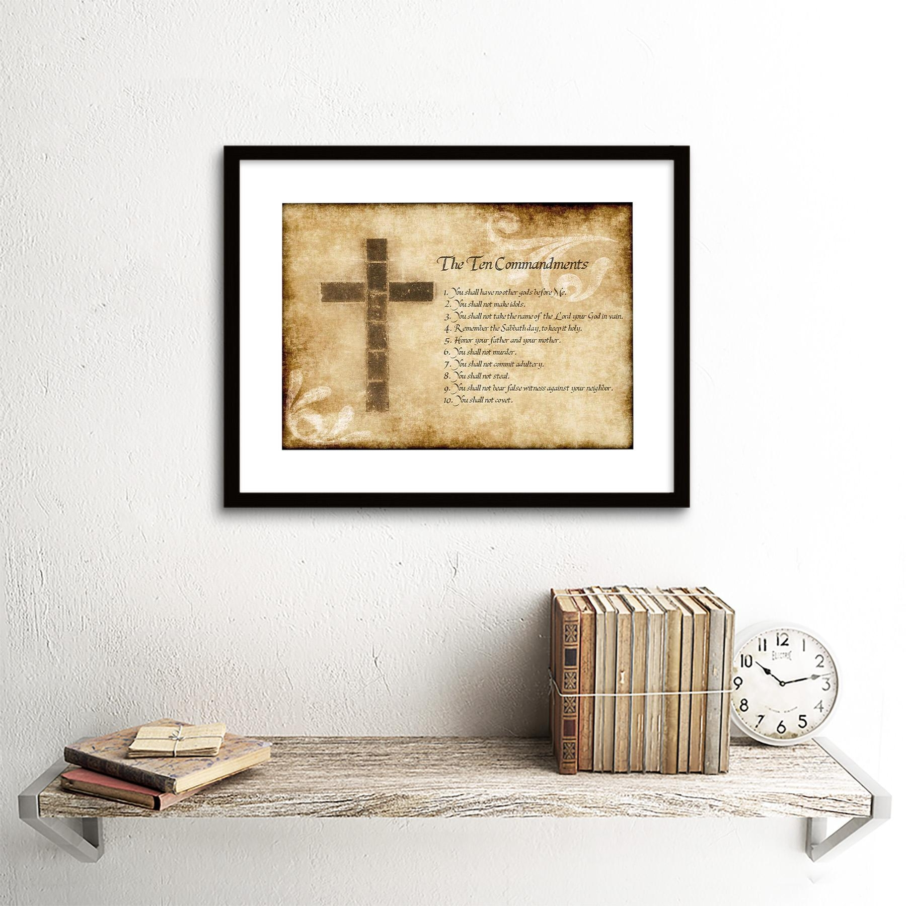 Best 40+ Ten Commandments Wall Art Design Inspiration Of Wall (Image 11 of 20)