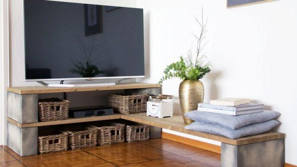 Best Best 25 Simple Tv Stand Ideas On Pinterest Diy Tv Stand Diy With Most Up To Date Tv Stands With Baskets (Image 10 of 20)