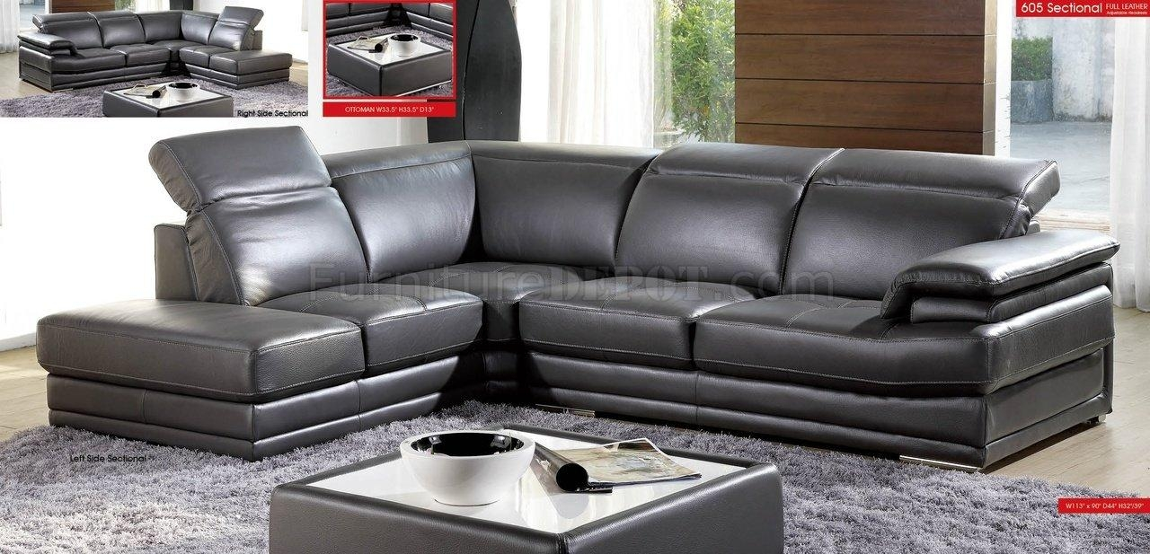 Best Charcoal Grey Sectional Sofa 53 In Leather Sectional Sleeper With Black Leather Sectional Sleeper Sofas (Image 2 of 21)