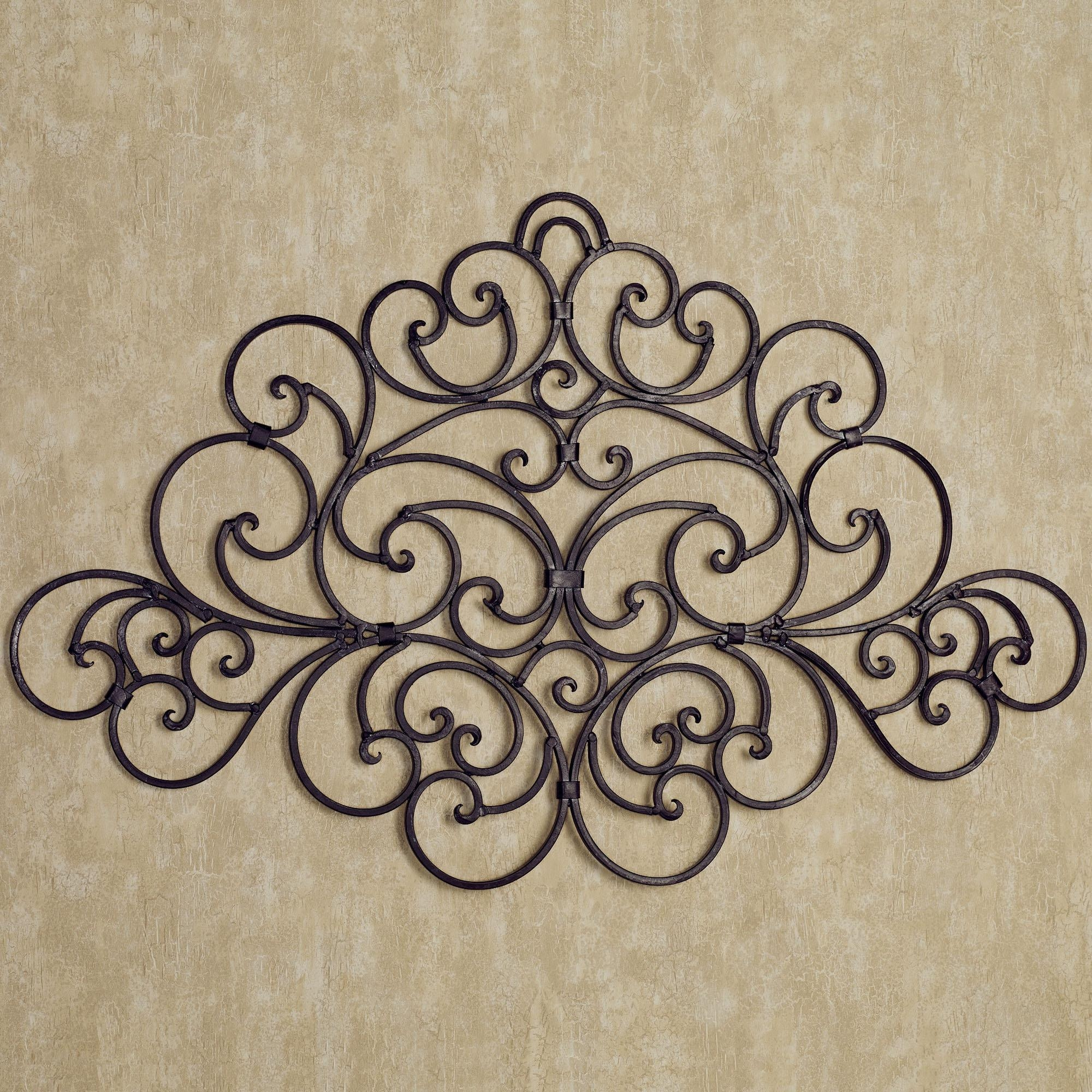 Best Metal Scroll Wall Decor : Iron Metal Scroll Wall Decor In Inexpensive Metal Wall Art (View 14 of 20)