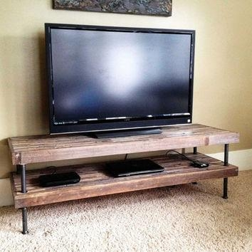 Best Rustic Tv Stand Products On Wanelo inside Most Popular Reclaimed Wood And Metal Tv Stands
