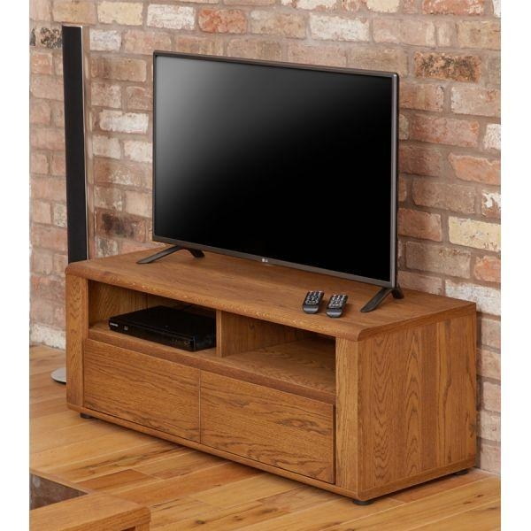 Best Small Wooden Tv Cabinet London Oak Tv Stand Modern Light Oak Inside Recent Small Tv Cabinets (Image 9 of 20)