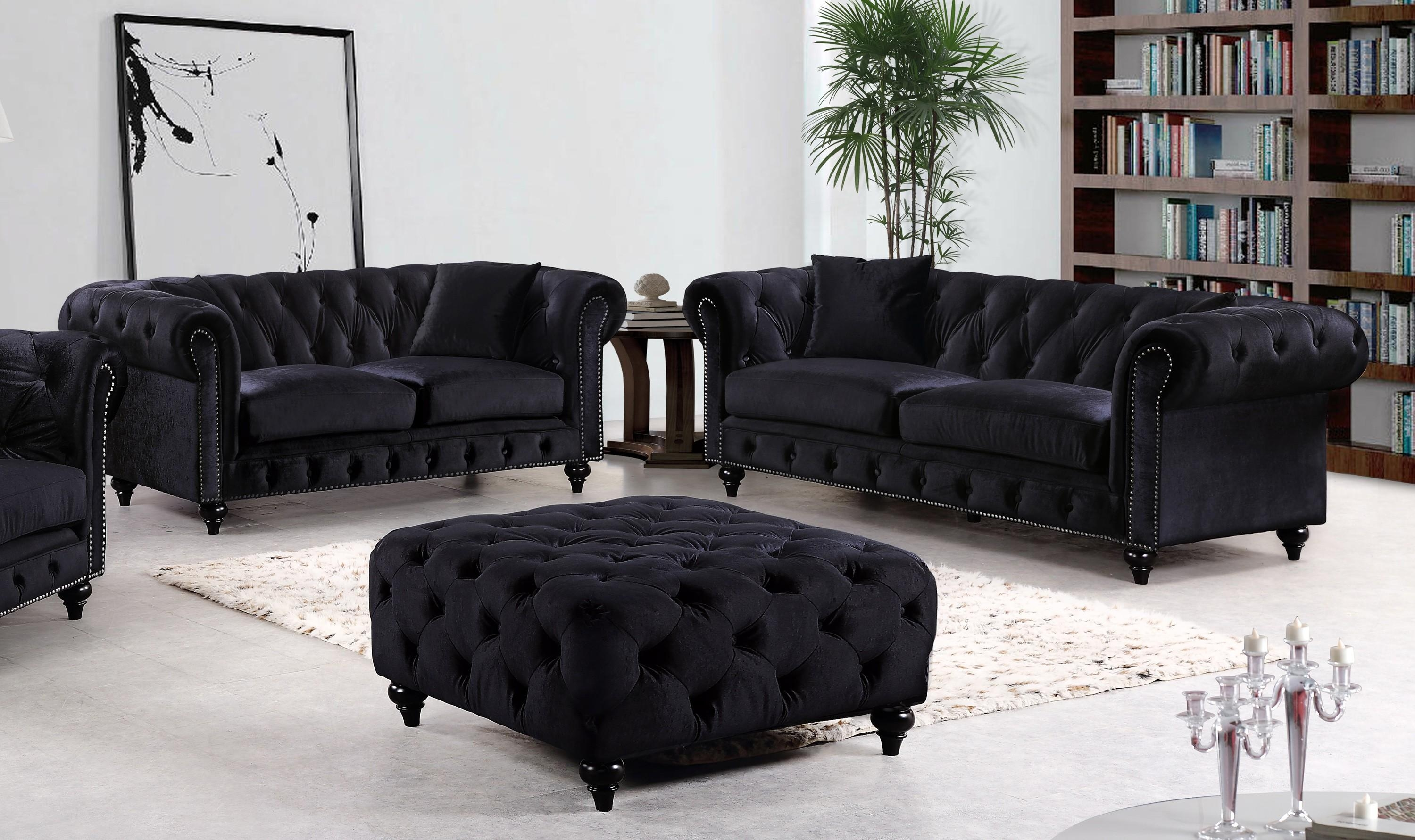 Best Velvet Sofa Set 13 In Contemporary Sofa Inspiration With With Black Velvet Sofas (Image 2 of 20)