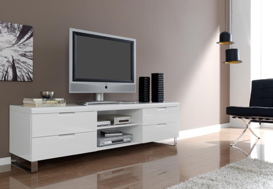Best White Tv Unit Tv Stands Glamorous White High Gloss Tv Stand Regarding Most Recently Released High Gloss White Tv Cabinets (Image 5 of 20)