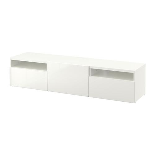 Bestå Tv Unit – White/selsviken High Gloss/white, Drawer Runner Within 2017 Ikea White Gloss Tv Units (Image 13 of 20)